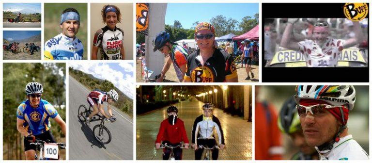 Collages of ways the global cycling community uses Buff®