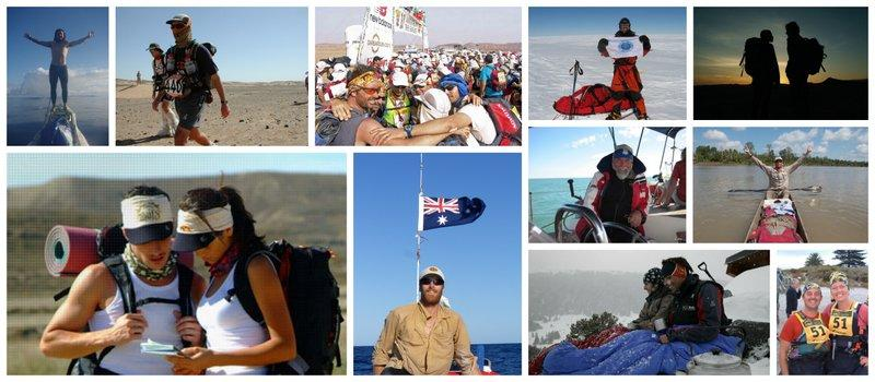 Collage showing the global outdoor and adventures community using Buff®