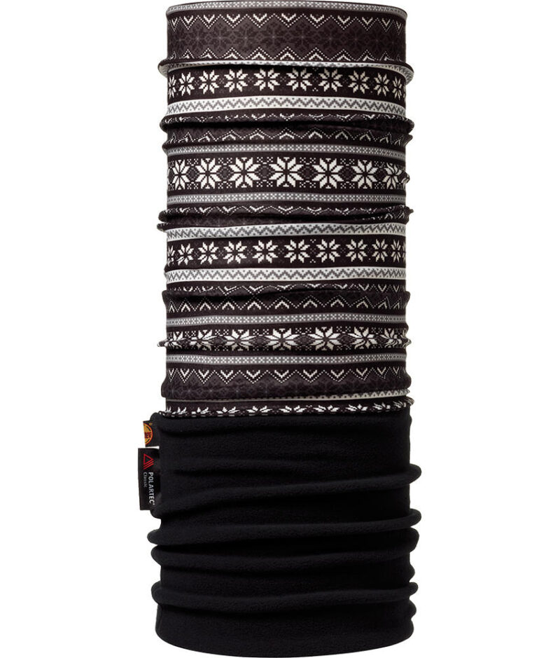"Studio photo of the Polar Buff® Design ""Snowflakes/Black"". Source: buff.eu"