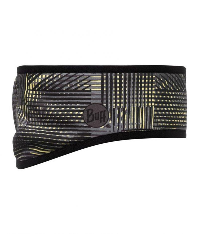 "Studio photo of the Buff® Headband Pro Design ""Weft/Grey"". Source: buff.eu"