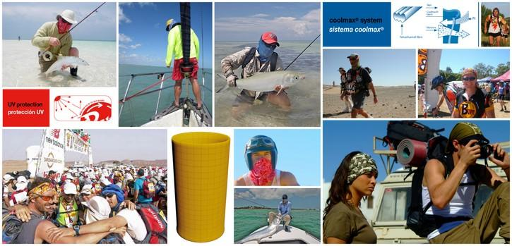 Collage. Ways the global Buff® community loves to wear the High UV Buff®