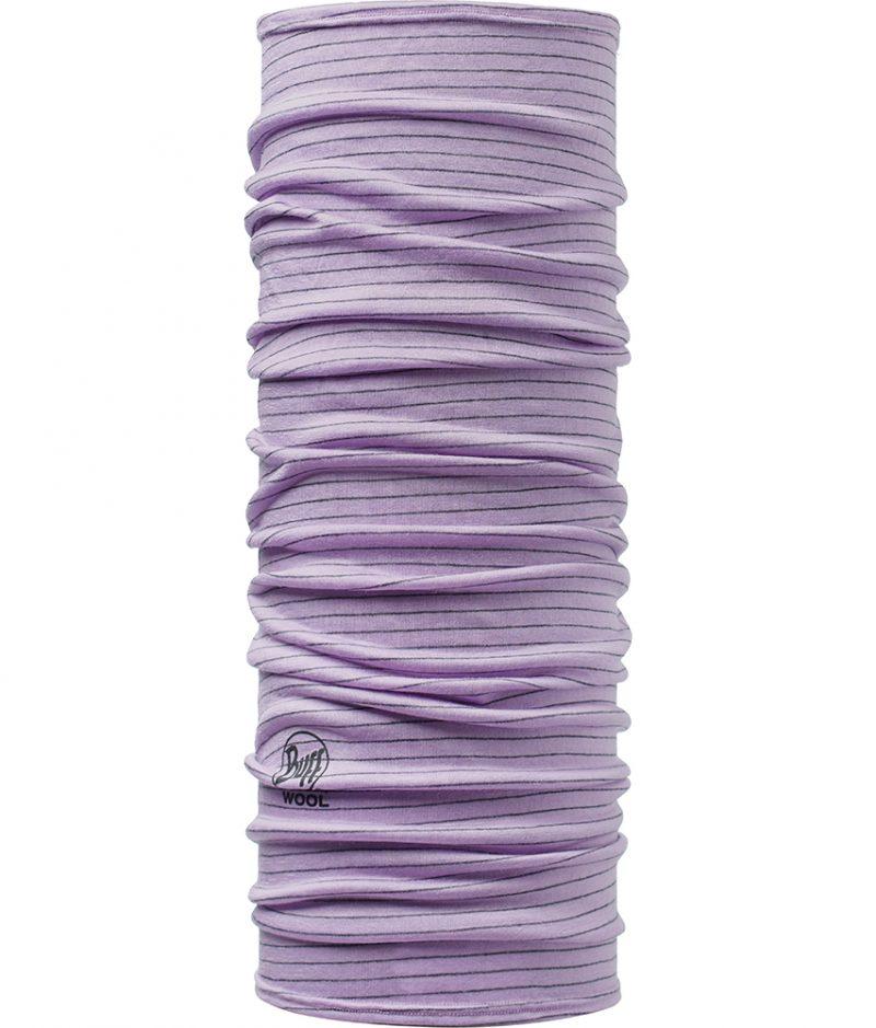 "Studio photo of the Wool Buff® Design ""Lavender Mist Stripes"". Source: buff.eu"