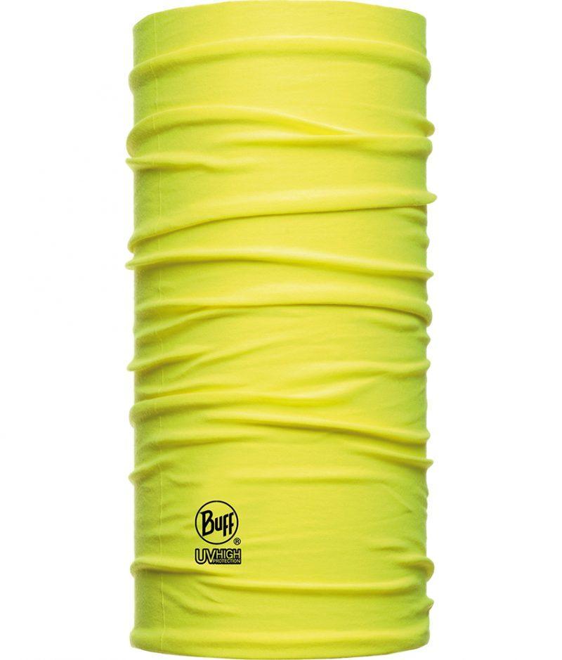 "Studio photo of the Dry Cool Buff® Design ""Yellow Fluor"". Source: buff.eu"