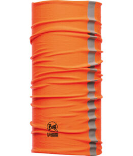 "Studio photo of the Dry Cool Buff® Design ""Reflective Orange Fluor"". Source: buff.eu"