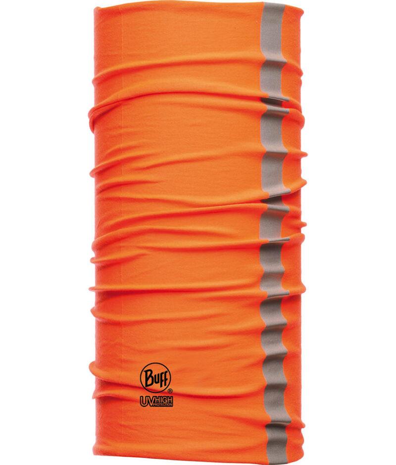 "Studio photo of the Dry Cool Buff® Design ""Reflective Orange Fluor"". Source: buff.eu"