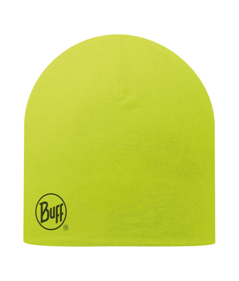 "Studio photo of the Buff® Professional Thermal Hat design ""Yellow Fluor"". Source: buff.eu"