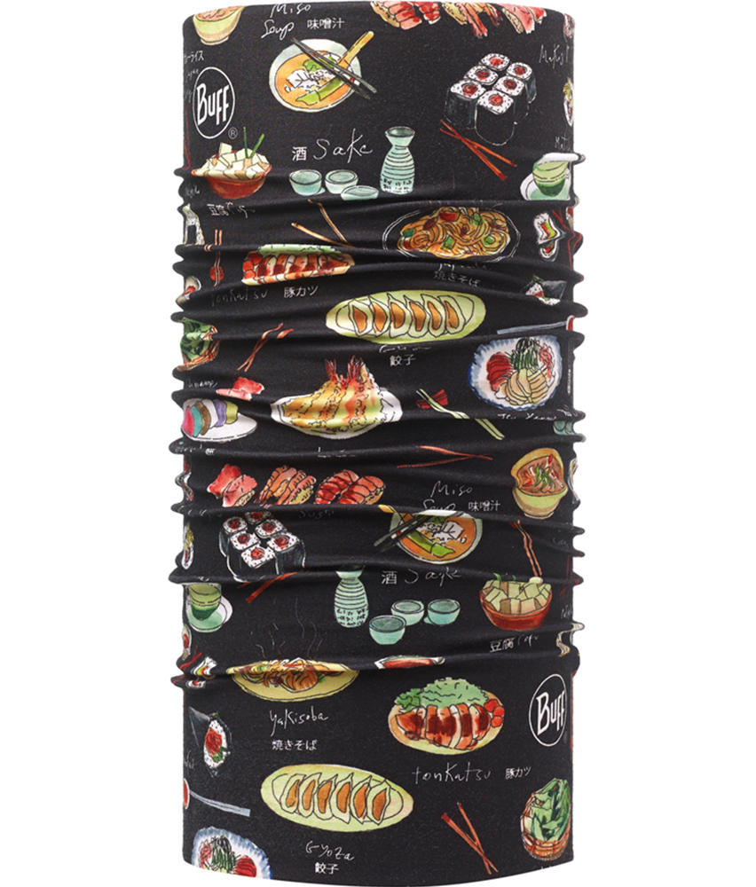 """Studio photo of the Professional range Dry Cool Buff® Chefs Collection design """"Japonice Black"""". Source: buff.eu"""
