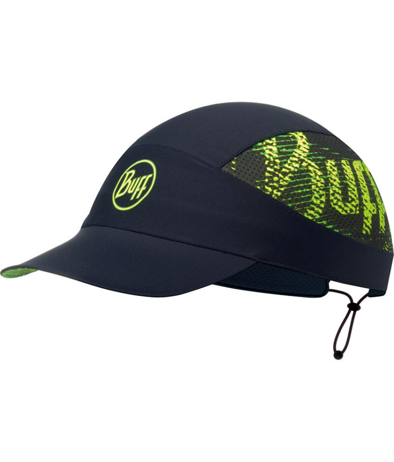 "A studio photo of the Buff® Pack Run Cap design ""Flash Logo"". Source: buff.eu"