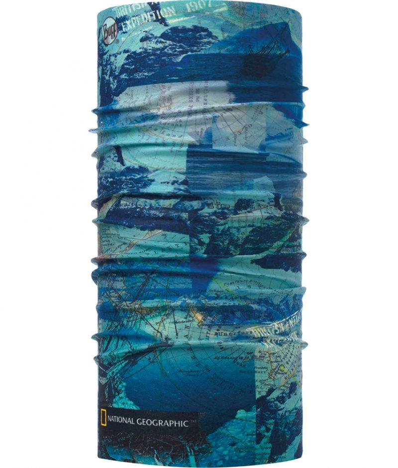 "Studio photo of the Original Buff® National Geographic Collection Design ""Antarctic Ocean Blue"". Source: buff.eu"