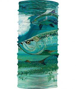 "A product photo of the High UV Buff® ""Guy Harvey Silver Kings"". Source: buff.eu"