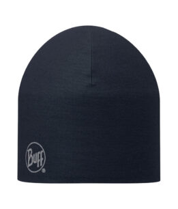 "A studio photo of the 203076 Pro Thermal Hat ""Navy"". Source: buff.eu"