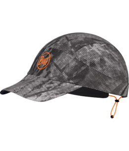 "Studio photo of the Pack Run Cap design ""Jungle Grey"". Source: buff.eu"
