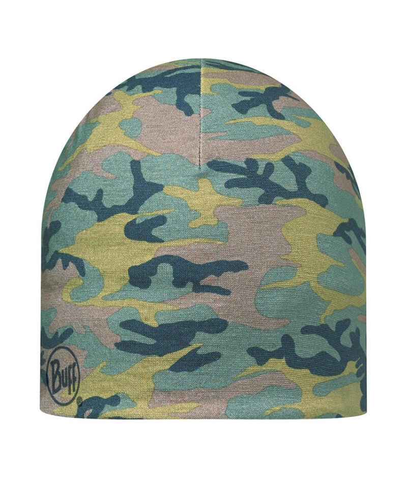 "Studio photo of the Pro Thermal Hat design ""Camu Military"". Source: buff.eu"