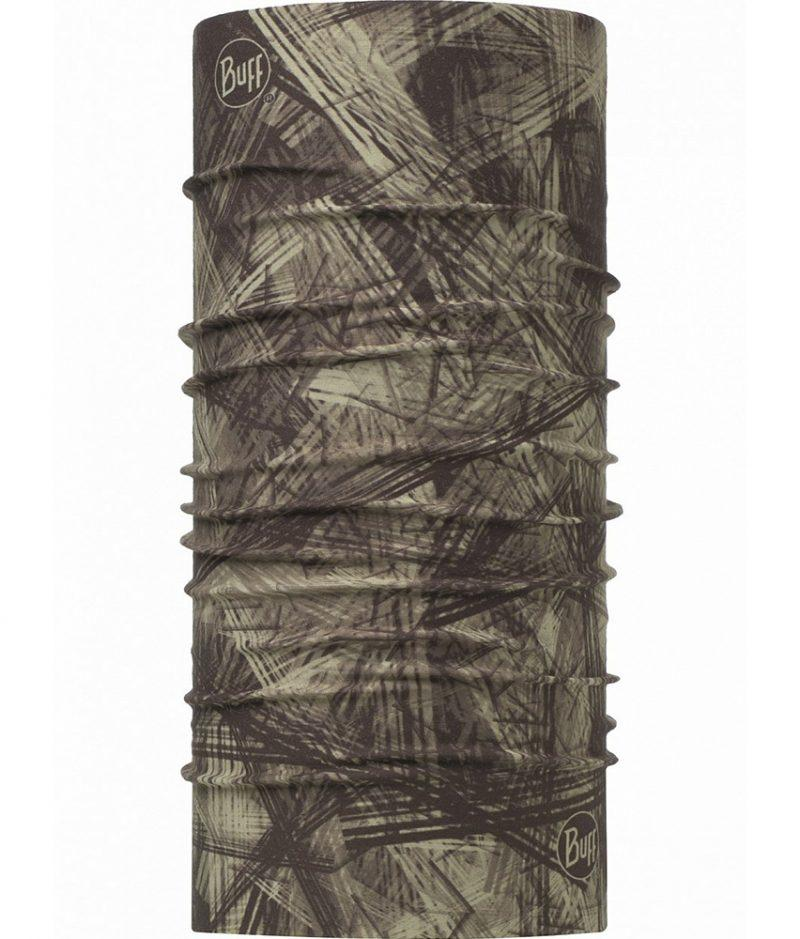 "Studio photo of the Insectshield™ High-UV Buff® Design ""Hashtag Moss Green"". Source: buff.eu"