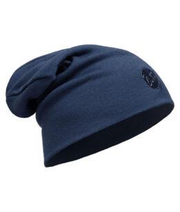 "Studio photo of the Buff® Heavyweight Wool Loose Hat Design ""Denim"". Source: buff.eu"