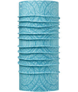 "Studio photo of the Coolnet UV Buff® Design ""Mash Turquoise"". Source: buff.eu"