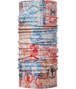 """Studio photo of the Coolnet UV Buff® Camino de Santiago Collection Design """"Credencial"""". Source: buff.eu"""