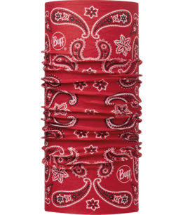 "Studio photo of the Original Buff® Design ""Cashmere Red"". Source: buff.eu"