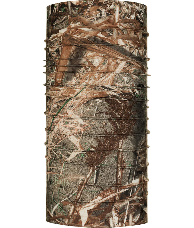 "Studio photo of the Coolnet UV+ Buff® Mossy Oak™ Design ""Duck Blind"". Source: buff.eu"