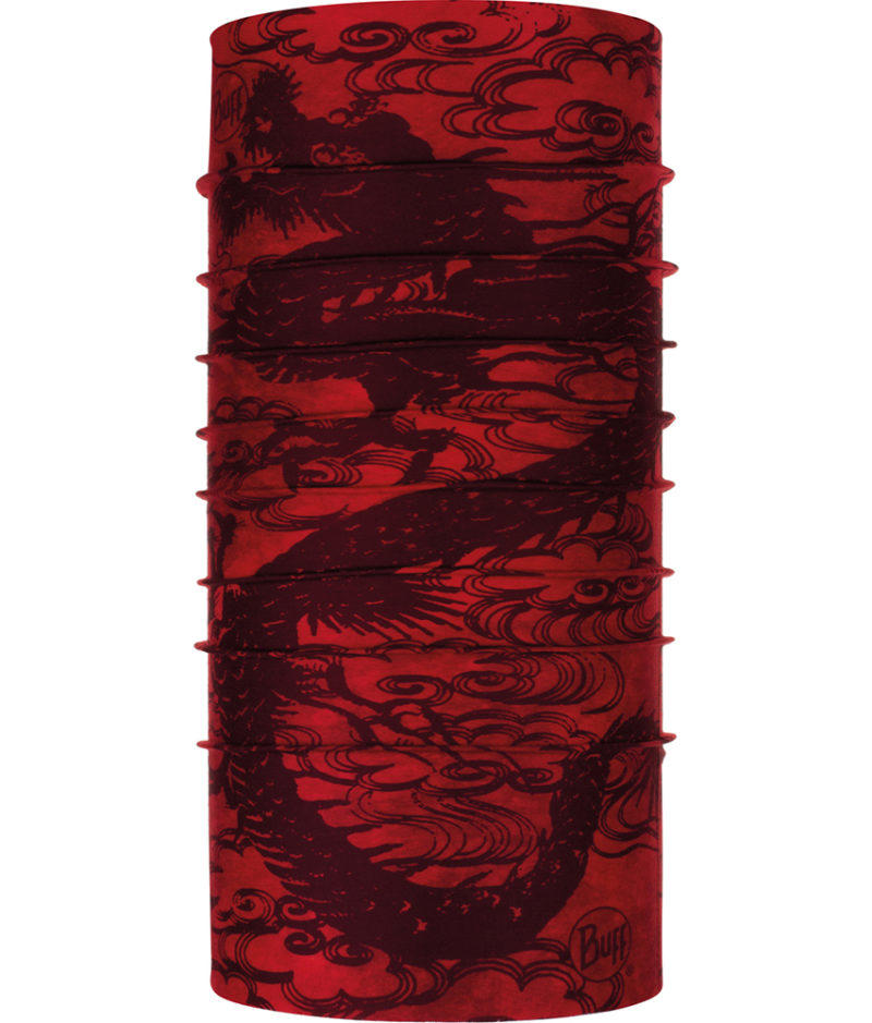 "Studio photo of the Original Buff® Design ""Senggum Red"". Source: buff.eu"