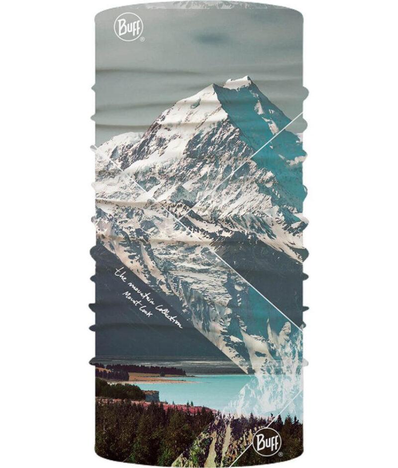 "Studio photo of the Original Buff® Mountain Collection Design ""Mount Cook"". Source: buff.eu"