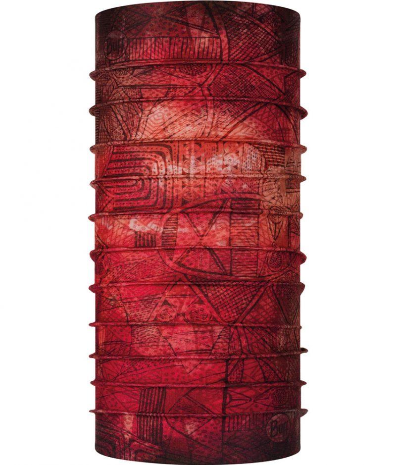 "Studio photo of the Coolnet UV Plus Buff® Design ""Zadi Terracotta"". Source: buff.eu"