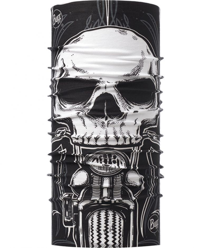 "Studio photo of the Original BUFF® Design ""Skull Rider Multi""."
