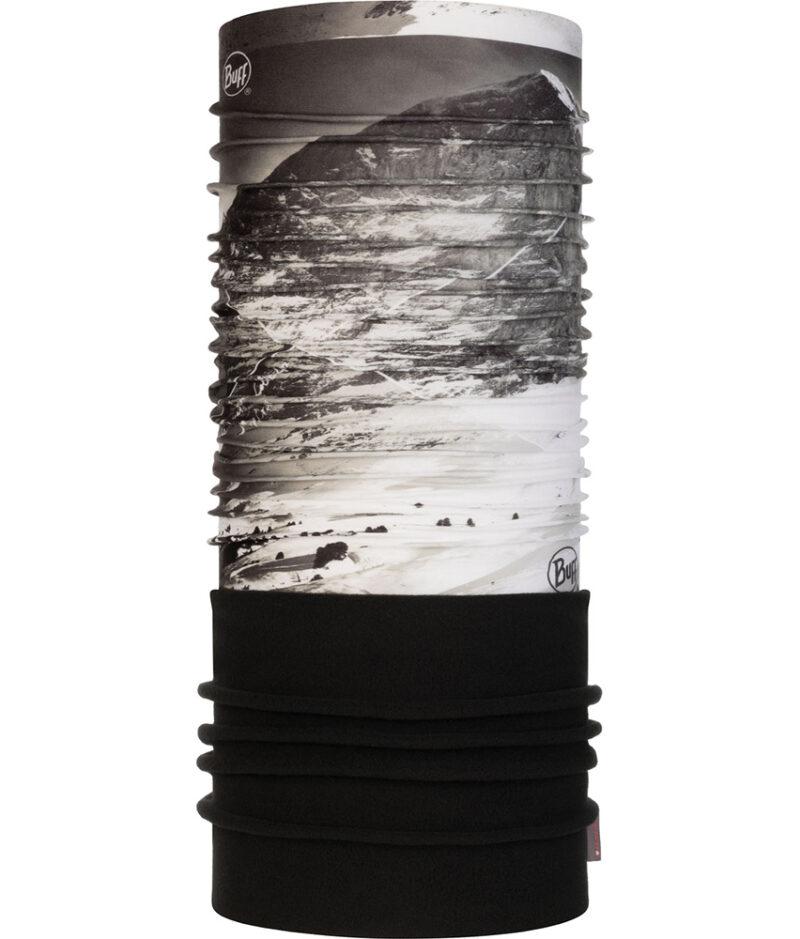 "Studio photo of the Polar BUFF® Mountain Collection Design ""Jungfrau Grey"""