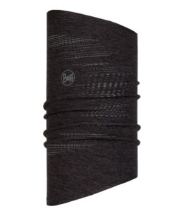 "Studio photo of the BUFF® DryFLX Neckwarmer Design ""Reflective Black"". Source: buff.eu"