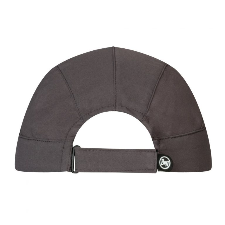 A photo showing the back of a BUFF® Pack Trek Cap. A velcro strap for size adjustment is featured prominently. Source: buff.eu