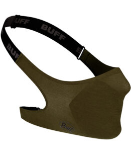 """Studio photo of the BUFF® Filter Face Mask Design """"Solid Military"""". Source: buff.eu"""